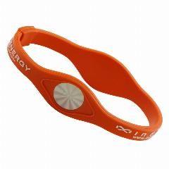[ 50% OFF ] Inox Jewelry 10 Pcs/lot Orange Power Energy Hologram Silicone Bracelet For Men Woman Sport Wristband