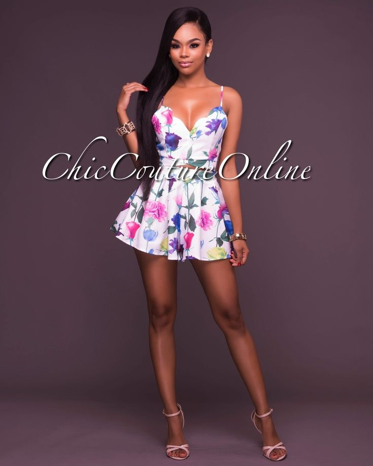 Chic Couture Online - Ximena Pink Floral Two Piece Set, (http://www.chiccoutureonline.com/ximena-pink-floral-two-piece-set/)