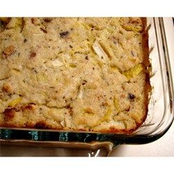 Yellow Squash Dressing Allrecipes.com (my old recipe, just omit the milk) - MADE THIS - DELICIOUS!