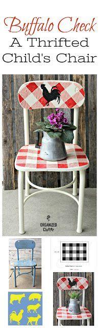 Buffalo Check A Thrifted Farmhouse Style Child's Chair