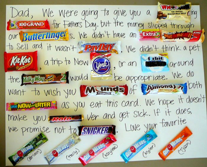 #DIY Homemade Father's Day Candy Card