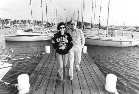 David Bowie and Geeling Ng in Gothenburg, Sweden, 10 June 1983 © Urban Andersson