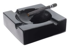 "He should quit, but til then - father's day gift? Visol ""Donovan"" Black Ceramic Cigar Ashtray For Patio Use"