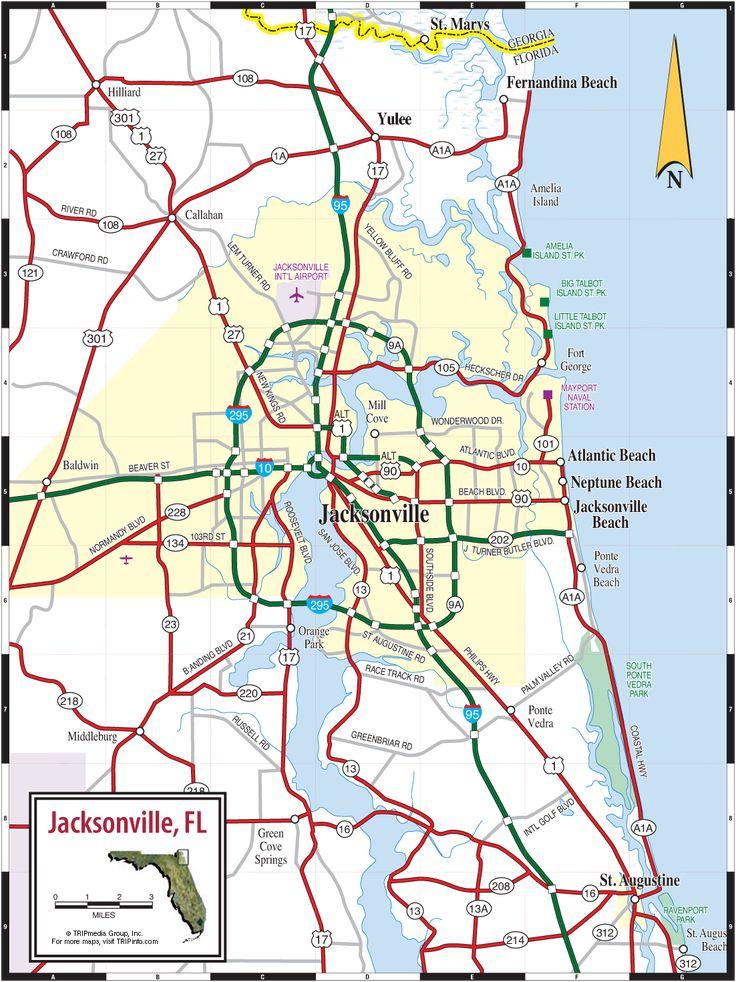 Melhores Ideias De Jacksonville Map No Pinterest Mapa Do Sul - Map de florida