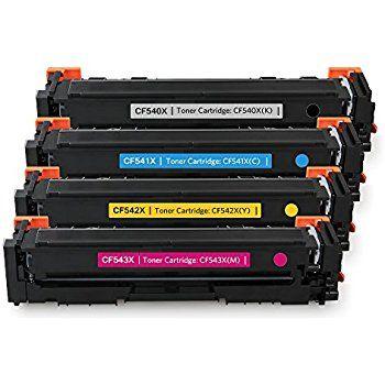 Toner HP 203A/ 203X (CF540/1/2/3) pour imprimante HP LaserJet Pro MFP M281fdw/ M254dw.