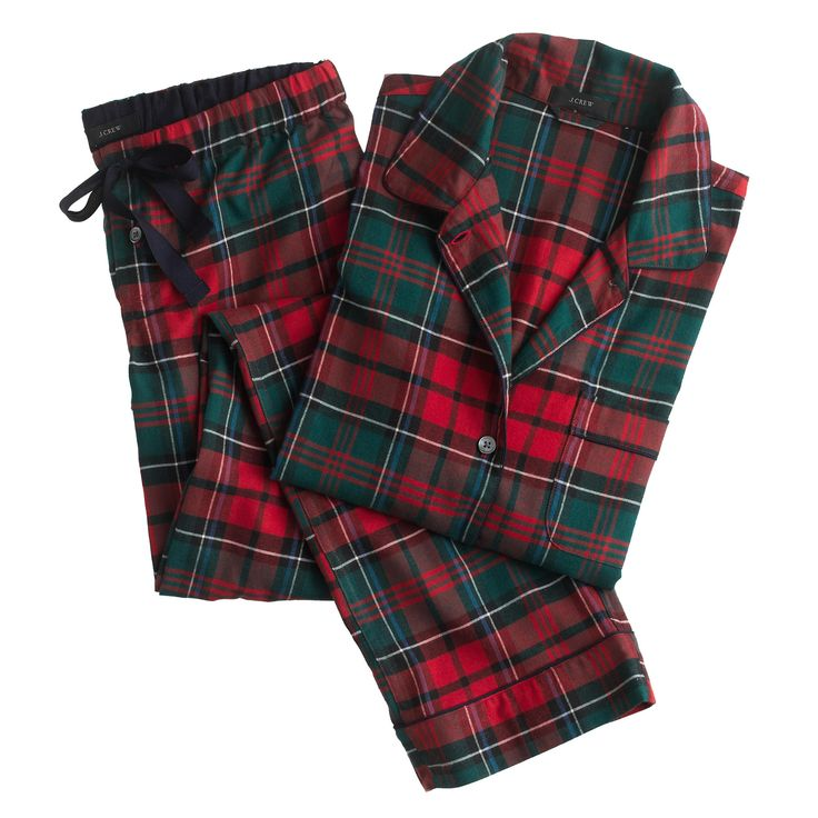 Plaid Pajama Ser // J.Crew.