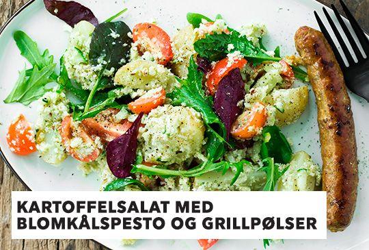 (32) Stofa Webmail :: Sæsons grønne opskrift: Kartoffelsalat med blomkålspesto og grillpølser