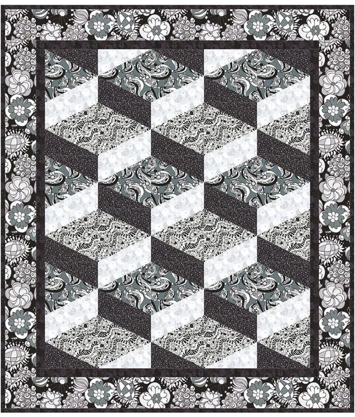 Perfect square zentangle pattern Steppin' Out Quilt Pattern LLS-113e (instant download)
