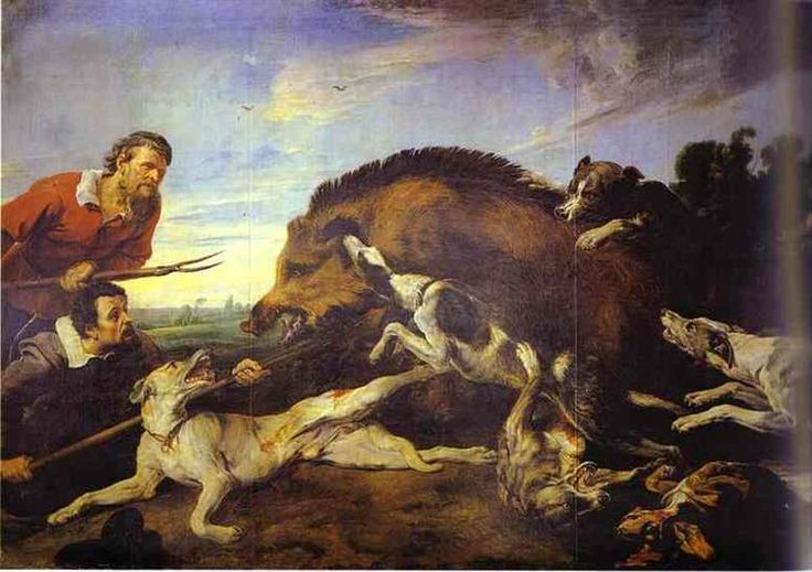 La caza del jabalí, 1640 - Frans Snyders