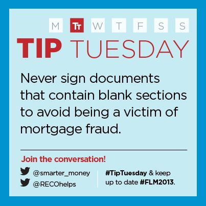 """""""Avoid mortgage fraud: never sign documents that contain blank sections.""""  - Real Estate Council of Ontario (RECO)"""