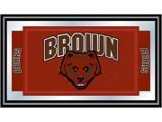 ADG Brown University Logo and Mascot Framed Mirror