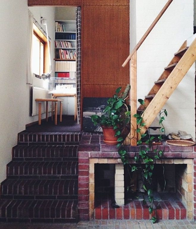 The home studio/library in the house designed by Alvar and Aino Aalto in Helsinki.