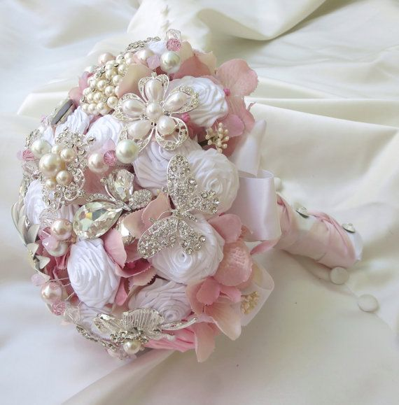 Bridal Brooch Bouquet  Wedding Bridal Bouquet  Pink by BoHoBridal, $350.00