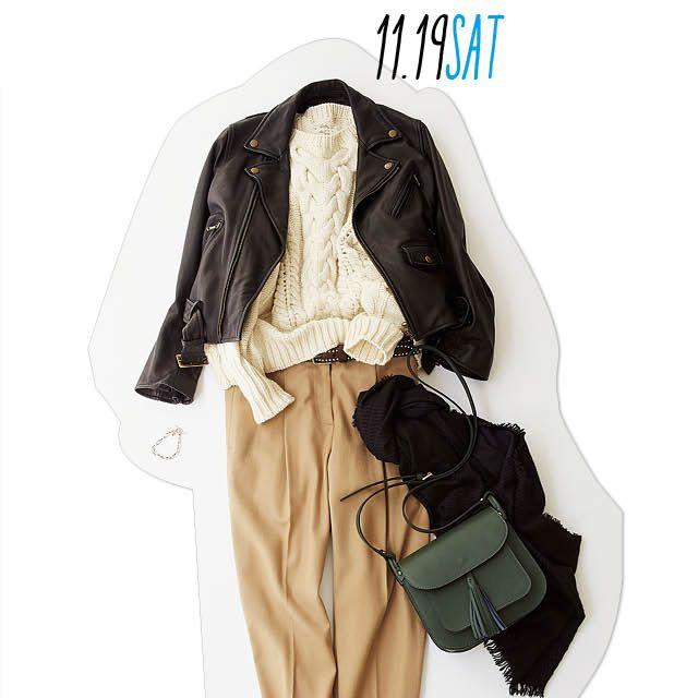 辛めレザージャケットがあれば、女子受けコーデは驚くほど簡単!-@BAILA ワタシを惹きつける。モノがうごく。リアルにひびく。BAILA公式サイト|HAPPY PLUS(ハピプラ)集英社