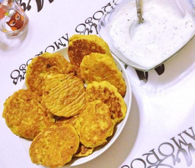 Frittelle indiane cavolfiore e curry