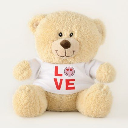 Valentine Heart Eyes Emoji Love Small Teddy Bear - love gifts cyo personalize diy