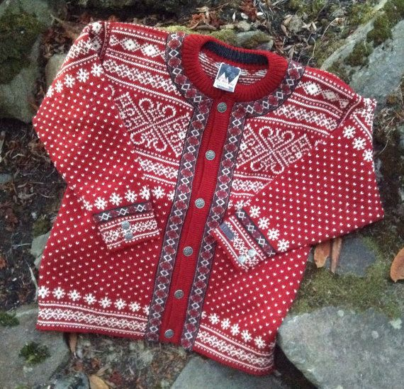 Dale of Norway Norwegian wool cardigan sweater made by VikingRaids