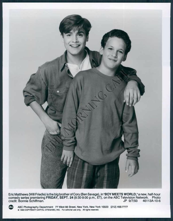 thebutterfly18: Awwww. Eric(Will Friedle) and Corey(Ben Savage) are so young here! ❤️