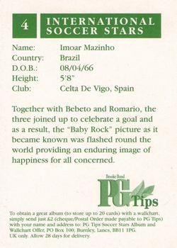 1998 Brooke Bond PG Tips International Soccer Stars #4 Imoar Mazinho Back