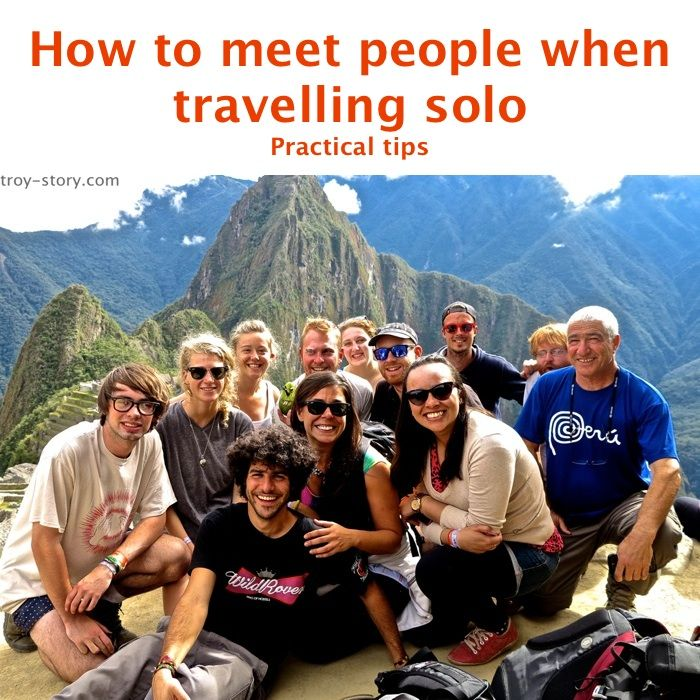 Practical tips for meeting people when travelling solo.