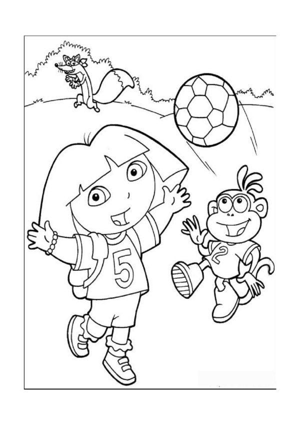 Dora Explorer Tegninger Til Farvelaegning Printbare