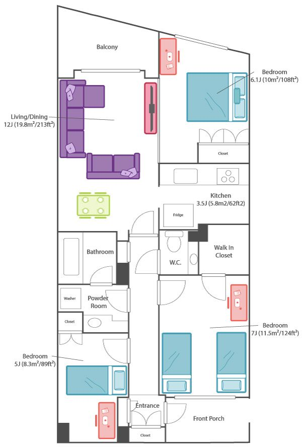 Japanese Apartment Size Guide With Diagrams Apts Jp In 2020 Japanese Apartment Bathroom Floor Plans House Floor Plans