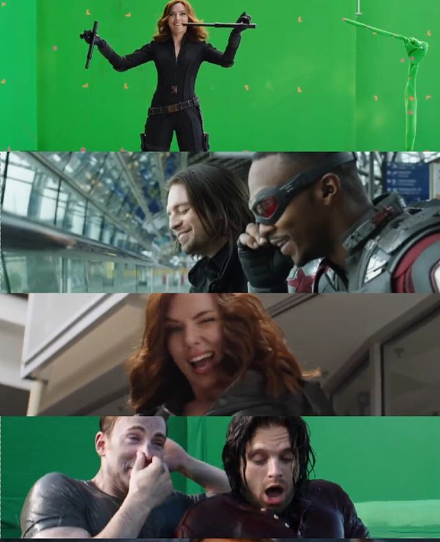 Captain America civil war gag reel