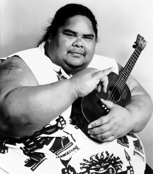 """Israel """"IZ"""" Kamakawiwo'ole. Amazing, played beautifully & sang like an angel...my bf learnt to play the ukelele from watching his video. Still my favourite version of over the rainbow <3"""