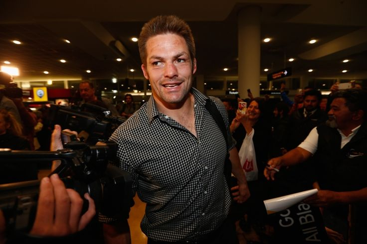 All Blacks captain Richie McCaw at Auckland Airport. Photo: Getty Images