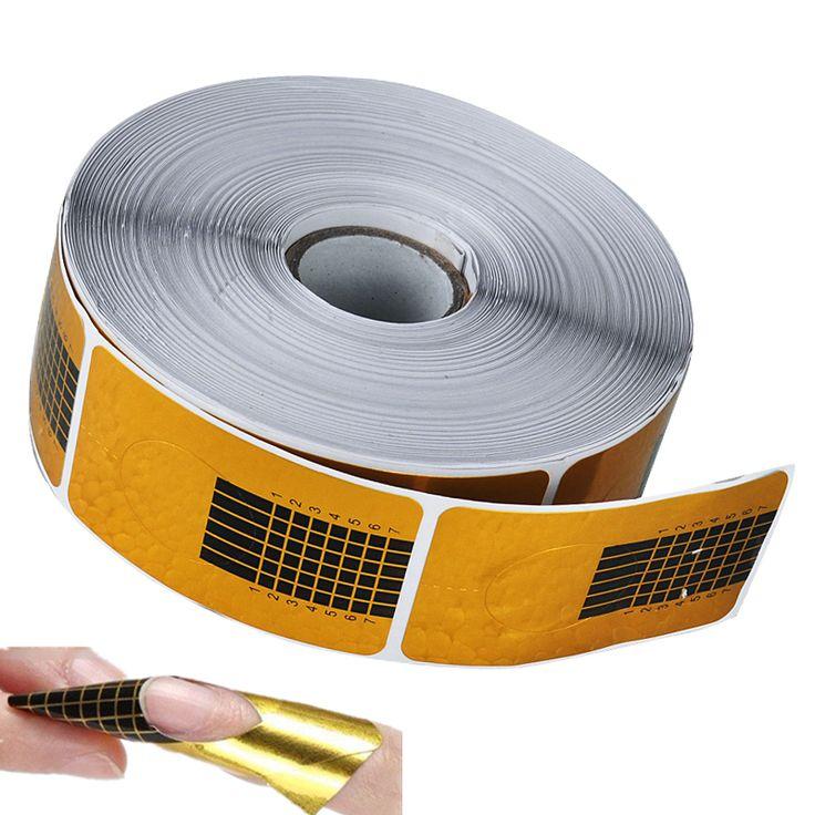 Biutee 50 Pz Unghie Gel Extension Dell'autoadesivo di Arte Del Chiodo Acrilico Professionale Nail Forms