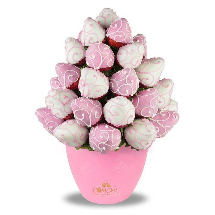 Resultado de imagen para ramo de fresas con chocolate