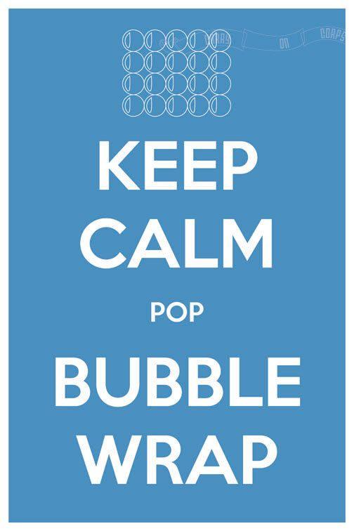 Keep Calm Pop Bubble Wrap 8 x 12 Keep Calm and Carry On Parody Poster. $15.60, via Etsy.