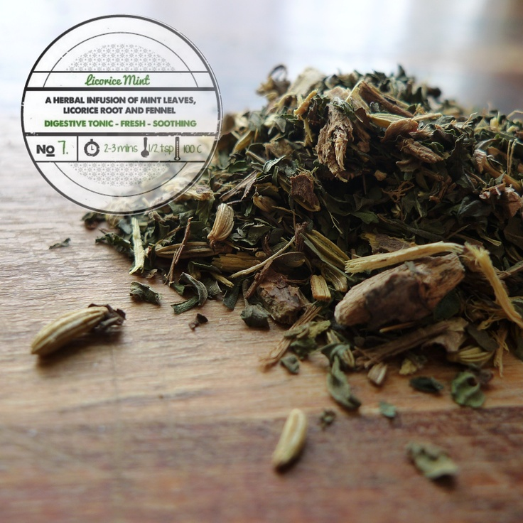 Licorice Mint by T totaler:   A Herbal Infusion of Mint Leaves, Licorice Root and Fennel.