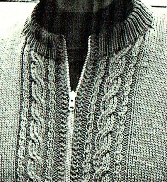 PDF Mens Traditional Golfers Aran Cabled by TheAtticofKitsch