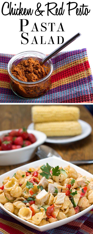 Chicken & Red Pesto Pasta Salad - Erren's Kitchen