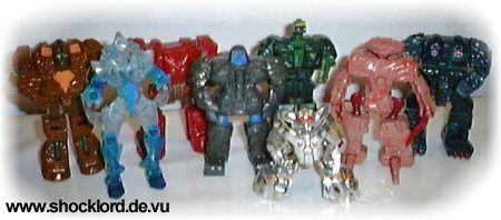 Rock Lords - Powerful Living Rocks ! Action Figures by TONKA BANDAI Actionfiguren Rocklords