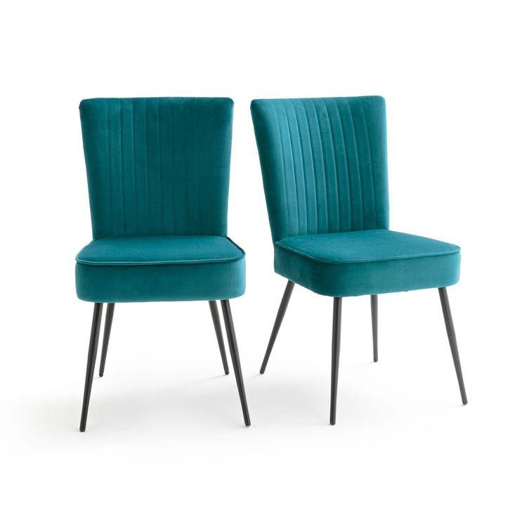 salle de rembourrée pieds manger Chaise à avec en métal OPk8N0Xnw