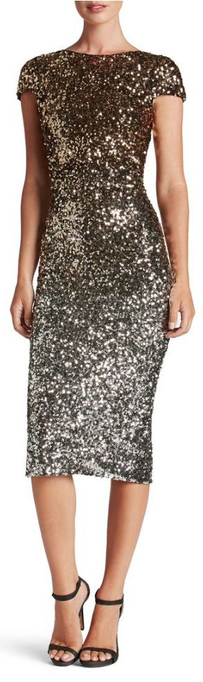 ombre sequin dress