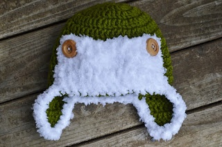 The Sequin Turtle: Naptime: Day 10 - FREE Crochet Baby Aviator Hat Pattern