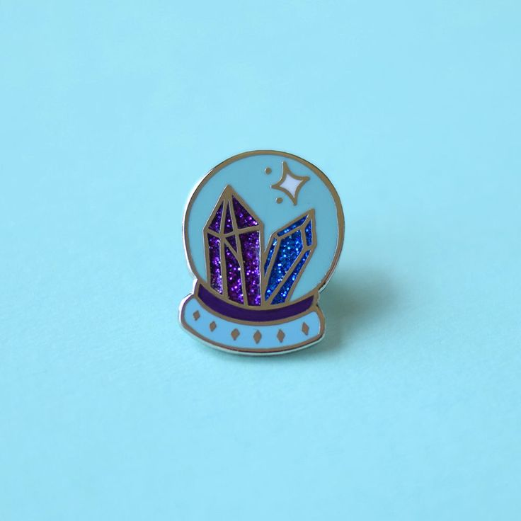 Crystal Ball Enamel Pin, Lapel Pin, Psychic, Gypsy, Fortune Teller, Magic Jewelry, Crystal Ball Jewelry, Glitter, Crystal Ball Pin by TeesAndTankYouShop on Etsy https://www.etsy.com/listing/277815182/crystal-ball-enamel-pin-lapel-pin