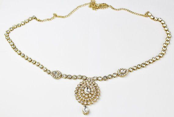 Handmade Gold Ladies Womens Kundan Stones Adjustable Sari Saree Belt Waist Chain Indian Bollywood Grecian Bohemian *Wedding,Party, Bridal* on Etsy, £25.40