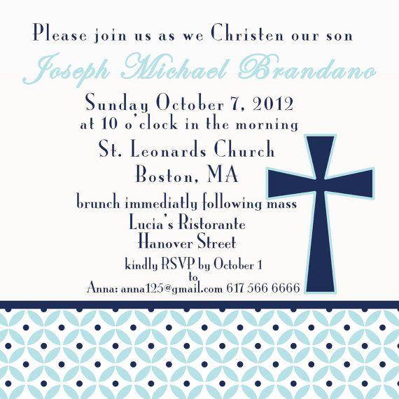 Christening Invite. 5x5 printable design by GoToGirlSignDesigns, $15.00