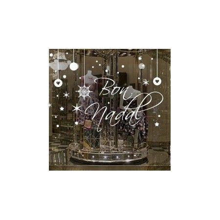 Vinilos decorativos de navidad con texto bon nadal y - Decorativos para navidad ...