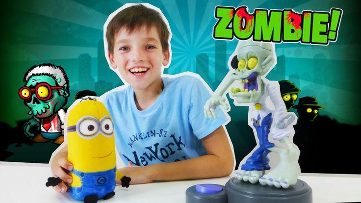 Игры для детей с игрушками из мультфильма Миньоны. Зомби ZOMBIE(мобильно...