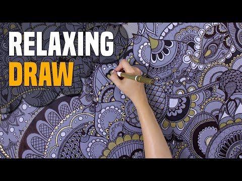 DRAWING FOR RELAXING MUSIC: RELAXÁCIÓS RAJZOLÁS