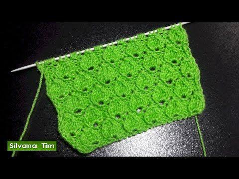 Punto GOTAS. Clase de tejido con dos palitos (dos agujas) # 476 - YouTube