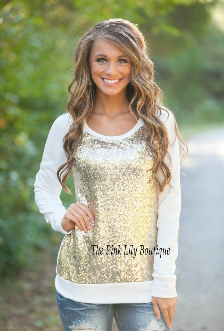 The Pink Lily Boutique - Glitter In The Air Sequin Sweater , $36.00 (http://thepinklilyboutique.com/glitter-in-the-air-sequin-sweater/)