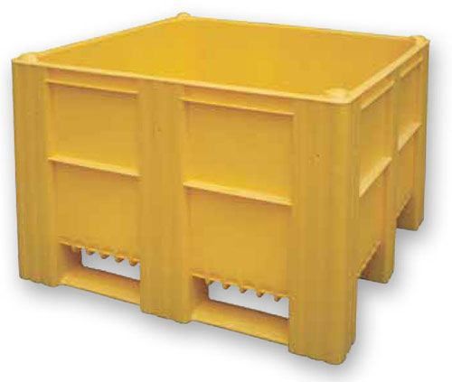 Container Plastik Besar - ISO box pallet Solid HDPE ISO 1200x1000