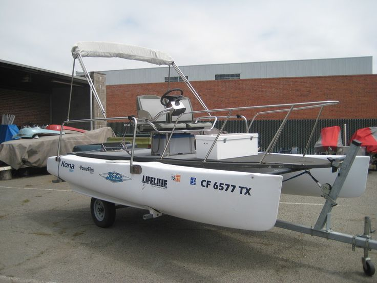 Hobie cat conversion small catamarans pinterest cats for Best way to store an outboard motor