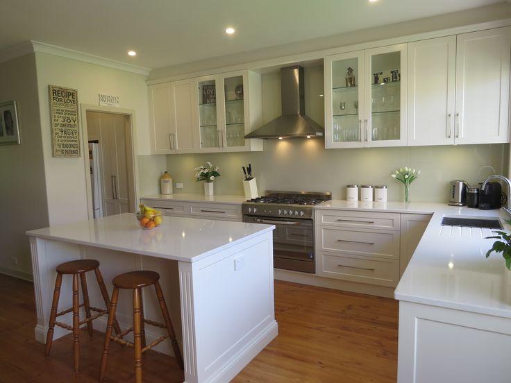 Traditional kitchen tops 30mm essa stone 39 torrone for Laminex kitchen designs